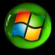 windows logo no back